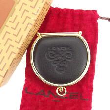 Lancel Wallet Purse Coin Purse Black Gold Woman unisex Authentic Used T1725