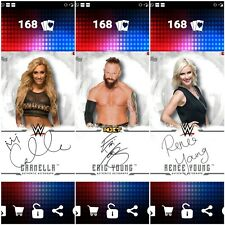 Topps WWE SLAM Digital 2017 Undisputed Auto Carmella, Eric Young & Renee Young