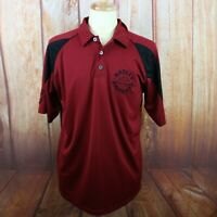 Harley Davidson Men's Large Polo Shirt Red S/S Embroidered Front Logo Pittsburgh