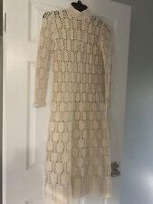 Holocaust Survivor  MADY GERRARD RARE VINTAGE CREAM Crochet Maxi Dress