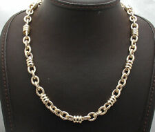 Technibond Multi Circle Rolo Link Chain Necklace 14K Yellow Gold Clad Silver