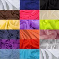 Premium CHIFFON FABRIC Polyester Dress Scarf Craft Material 150cm Wide