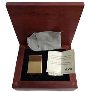 Zippo Solid Gold Limited Edition Lighter - 18K Gold