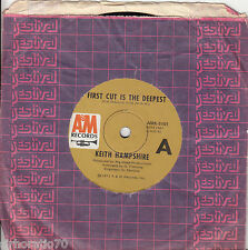 KEITH HAMPSHIRE First Cut Is The Deepest / Can't Hear Song 45