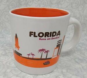 Dunkin Donuts Destinations Coffee Mug FLORIDA Runs on Dunkin - 12 oz Cup Mug