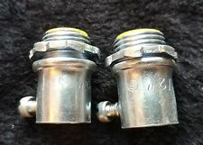 """TPG - EMT Set Screw Connector Pipe Conduit Electrical 1 1/2 x 3/4"""" (2)"""