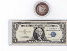 1957A $1 Silver Certificate Star Note & 1899-O Morgan Silver $ lot of 1 each