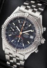 Breitling Blackbird Chronograph A13350 SS Black Dial 40mm