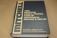 1983 MITCHELL Imported Cars & Trucks Tune-up Mechanical Service & Repair Manual