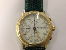 Tissot Automatik Chronograph in 585er Gold mit Lederband-Traumzustand-