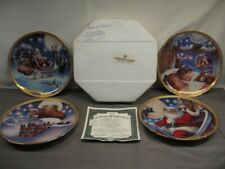 """Lot of 4 Bradford Exchange """"The Night Before Christmas"""" Collector Plates Mib"""