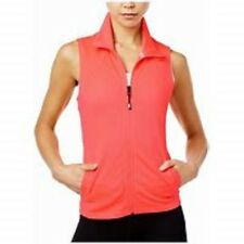 $79 NWT Womens Tommy Hilfiger Sport Preforated Zip Mesh Vest VIbrant Pink Medium