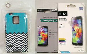 Samsung Galaxy S5 Case Cover by ELV Screen Saver Protectors & Accessories Bundle