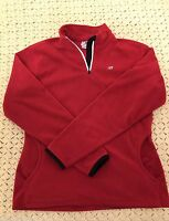 Vintage Women's New Balance Zip Up Red/Black Fleece Jacket Size Medium