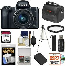 Canon EOS M50 Wi-Fi Digital ILC Camera & EF-M 15-45mm IS STM Lens (Black) with 3