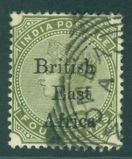 More details for sg 55 british east africa 1895. 4a olive-green. very fine used cat £48
