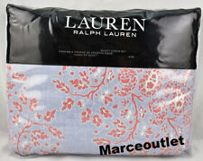 Ralph Lauren Home Marley Full / Queen Duvet Cover & Shams Set Blue Coral