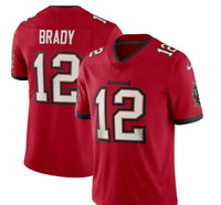 NWT #12 Tom Brady Tampa Bay Buccaneers Men's RED / WHITE / PEWTER Jersey S-2XL