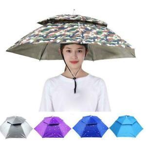 Outdoor Foldable Sun Rain Umbrella Hat Fishing Camping Hot Best C-ap O4O9