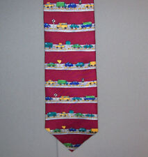 """Save the Children CAR CITY Cory Age 9 Silk 57"""" Neck Tie made in USA #861"""