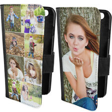 Personalised Custom Collage Printed Photo Picture Flip Wallet Phone Case Cover