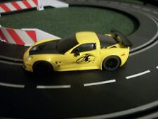 SCALEXTRIC 1/32 ANALOG YELLOW CORVETTE C6R DPR WITH LIGHTS