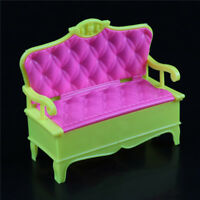 Lovely Mini Dollhouse Furniture Pink Sofa Couch  Doll Kids Toys  JR