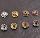 100PCS Flower Bead Caps Floral Spacer Beads 8MM Tibetan Silver Alloy 8MM DB3113