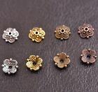 100Pcs Flower Bead Caps Floral Spacer Beads 8MM Tibetan Silver Alloy 8MM Z3113