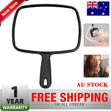 Hand Held Handheld Mirror Retro Vintage Lady Women Makeup Beauty Cosmetic Black