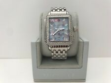 NEW MICHELE DECO DIAMOND GREY MOSAIC MOP DIAL LADIES WATCH MWW06T000124