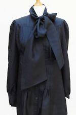 TED BAKER 100% Silk Black Shirt Dress w/ Large Pussybow - Size 4 (UK12-14)