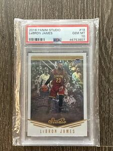 2016 Panini Studio LeBron James PSA10