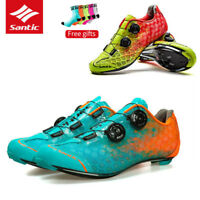 Santic Men's Professional Road Bike Shoes Cycling For Shimano SPD SL Look Shoes