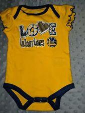Golden State Warriors Baby Girls Shirt 3/6 Months Yellow Basketball Love