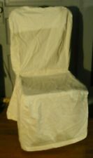 Pottery Barn Loose Fit Twill PARCHMENT Side Dining Chair Slip Cover