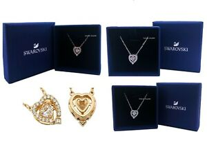 SWAROVSKI Sparkling Dance Stone Heart Pendant Necklace 5272365 5284188 5465284