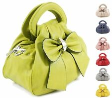 Fashion Ladies Faux Leather Bow Grab Bag Women Shoulder Tote Satchel Crossbody B