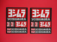 Two -Yoshimura sticker decal sheets Genuine and new Honda Yamaha Suzuki Kawasaki