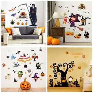 Halloween Wall Stickers Home Decoration Grim Reaper Wall Stickers Glass Stickers