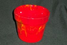 New listing Red Drip Ware California Art Pottery Planter Mid Century Modern Mcm 1950s-1960's