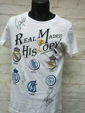 T shirt Histoire REAL MADRID CF signed RAUL RONALDO MORIENTES foot ultras signé