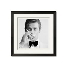 James Bond and The Saint Roger Moore Downs a Martini Urban 27x27 Poster Print