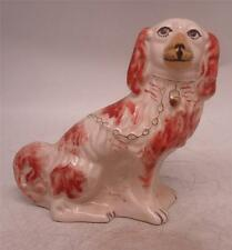 Reproduction Staffordshire Pottery Figure - Seated Dog