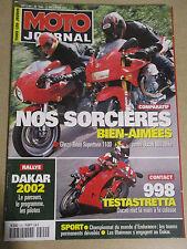 MOTO JOURNAL N°1500: 27/12/2001: DUCATI 900 MHe - 998 TESTASTRETTA - GHEZZI
