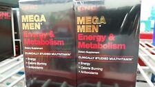 GNC Mega Men Energy & Metabolism Multivitamins 180 Caplets (2 x 90 ct bottles)