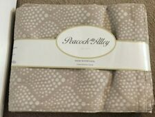 Peacock Alley Taupe with white dots Queen Matelasse Cotton Coverlet NWT
