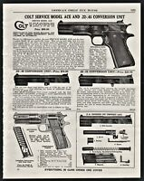 1940 COLT Service Model Ace and .22-.45 Conversion Unit Pistol PRINT AD