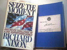 SEIZE THE MOMENT  Richard Nixon 1992  SIGNED FIRST EDITION Rare VNT HCDJ