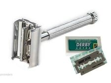 Parker Unisex 29L Butterfly Open Double Edge Safety Razor + Free Derby Blades